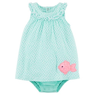 Just One You™Made by Carter's® Newborn Girls' Print Romper - Mint Green 6 M