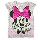 Disney® Minnie Mouse Toddler Girls Polkadot Tee - Heather Gray
