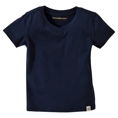 Burt's Bees Baby™ Infant Boy Solid Short Sleeve Reverse Seam V-Neck Tee - Midnight 3-6 M