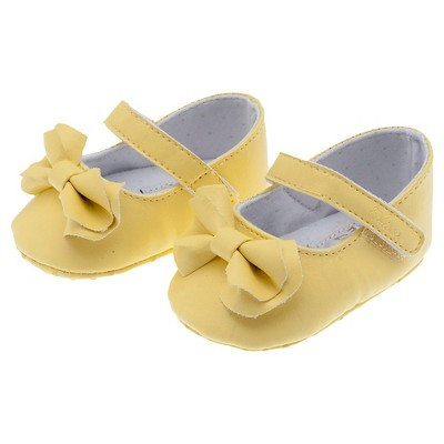 Chicco® Newborn Girls' Bow Mary Janes - Yellow 1
