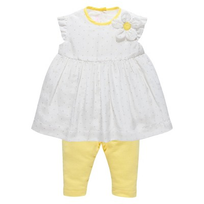 Chicco® Newborn Girls' 2 Piece Set - Yellow/White 12 M