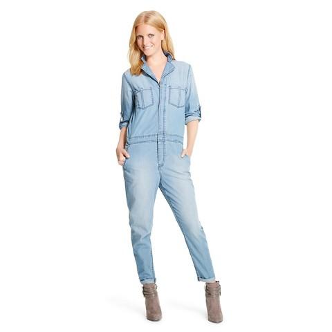 Women s denim jumpsuit mossimo 174 product details page