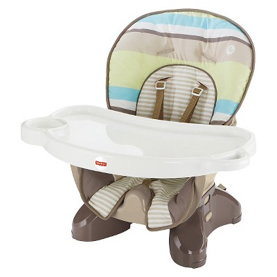 Fisher-Price SpaceSaver High Chair - Green Stripes