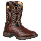 Durango Boy's Lil' Durango Saddle Cowboy Boots - Chestnut & Black