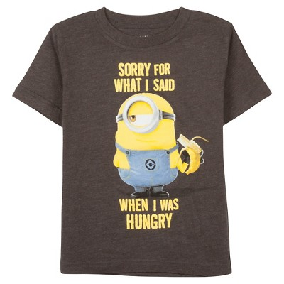 Male Tee Shirts Despicable Me Gray 2T