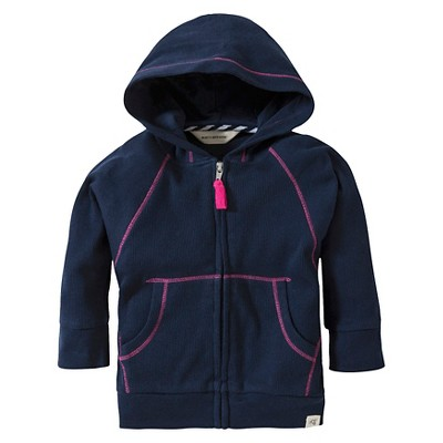 Burts Bees Baby™ Newborn Girls' Front Zip Hoodie - Midnight 3-6 M