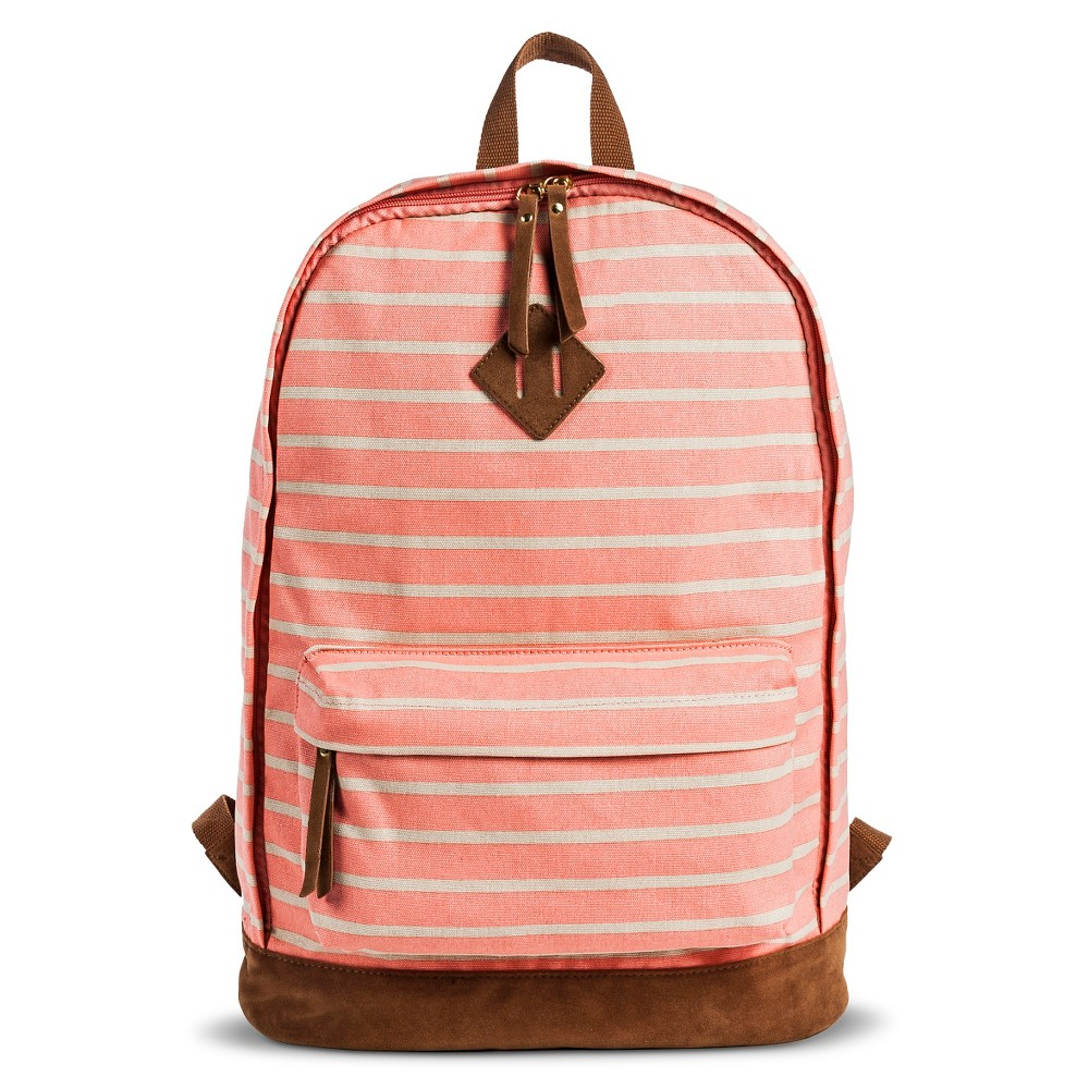 Mossimo Supply Co Women S Striped Canvas Backpack Handbag