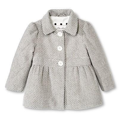 Toddler Girls' Peacoat - Grey 12 M