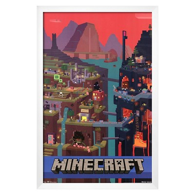 Art.com Minecraft Cube Framed Poster