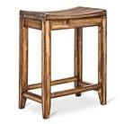 """Perdana Rustic Saddle Seat 24"""" Counter Stool Hardwood/Brown - Mudhut™"""