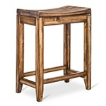 Easton Slat 24 Quot Counter Stool Hardwood Mahogany Set Of 2