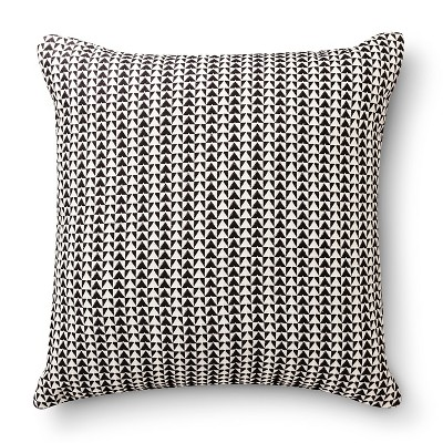 "Room Essentials™ Woven Triangle Pillow - Black (18x18"")"
