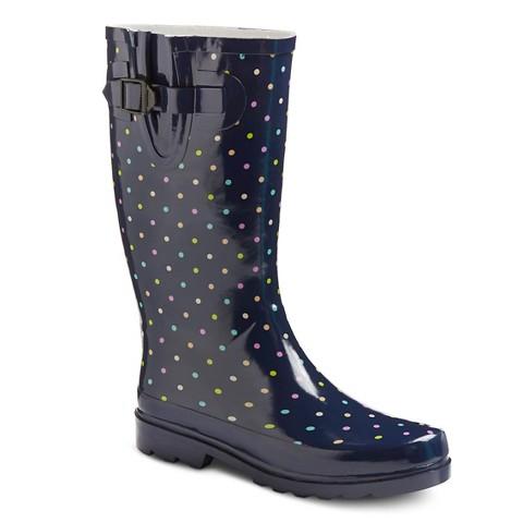 Elegant Women39s Kalista Tall Rain Boots Merona  MultiColored 9