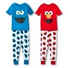 Toddler Boys' 4-Piece Mix & Match Sesame Street Pajamas