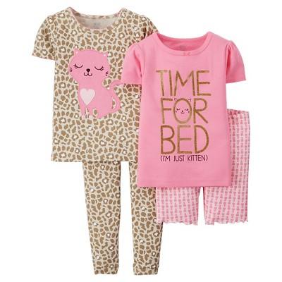 Baby Girls' Kitten 4-Piece Set - Pink  18 M