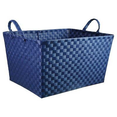 Woven Storage Bin Rectangular Navy - Pillowfort™