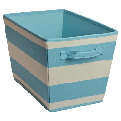 Linen Striped Storage Bin - Turquoise - Circo™