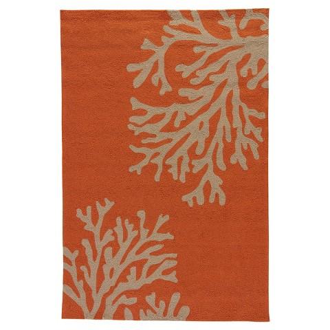Indoor Outdoor Coral Rug Orange Tar