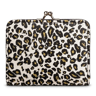 Women's Leopard Print Kiss Lock Clasp Wallet White - Mossimo Supply Co.™