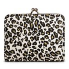 Women's Leopard Print Kiss Lock Clasp Faux Leather Wallet White - Mossimo Supply Co.™