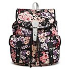 Women's Pink Floral Print Backpack Handbag with Metallic Buckle Detail - Black - Mossimo Supply Co.™