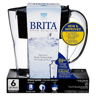 Brita® Space Saver Water Filter- Black