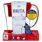 Brita® Space Saver Water Filter Pitcher- Red