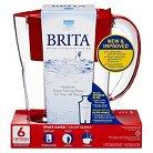 Brita® Space Saver Water Filter Pitcher- Red