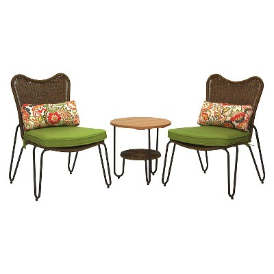 ECOM Turner 3pc Wicker Bistro Set