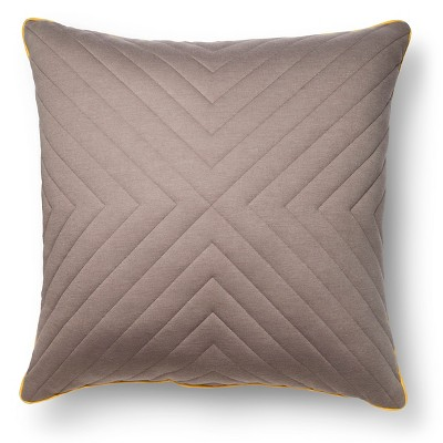"Room Essentials™ Oversized Quilted Pillow - Gray (24x24"")"