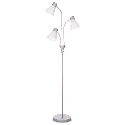 Room Essentials Clear Multi-Head Floor Lamp