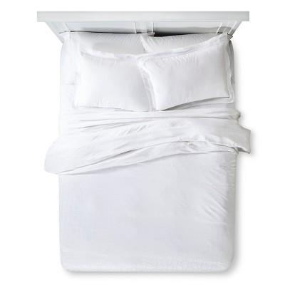 Tencel® Duvet Set - White (Queen)