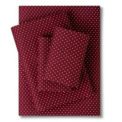 Grand Dot Sheet Set - Maroon (King)
