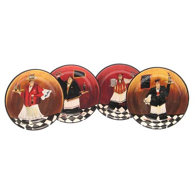 "Certified International Bistro Soup/Pasta Bowls Set of 4 (9"")"