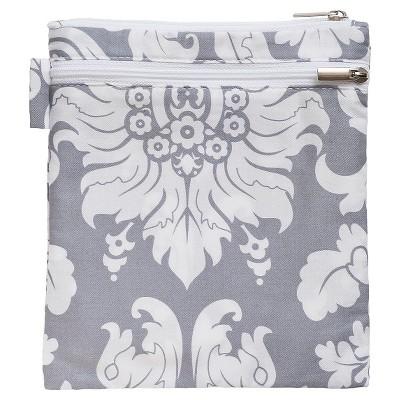 Bebe au Lait Wet Diaper Bag Floral Medium Silver