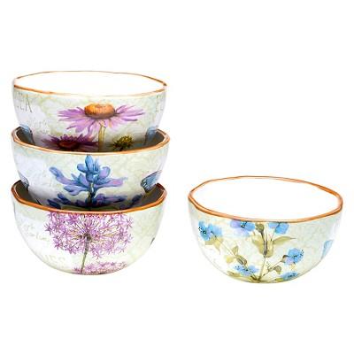 "Certified International Herb Garden Ice Cream Bowl Set of 4 (6"" x 3"")"