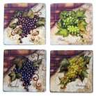 "Certified International Wine Cellar Square Salad Plate Set of 4 (8.75"")"