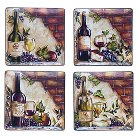 "Certified International Wine Cellar Square Dinner Plate Set of 4 (11"")"
