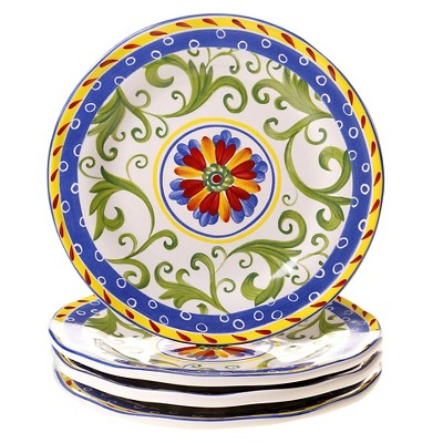 "Certified International Amalfi Dessert Plates Set of 4 (8.75"")"