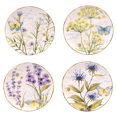 """Certified International Herb Garden Dessert Plate Set of 4 4 (8.75"""")"""