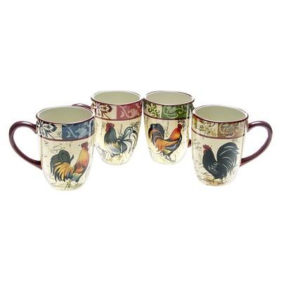Certified International Lille Rooster Mug Set of 4 (20 oz.)