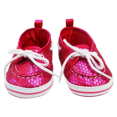 Newborn Girls' Sequin Shoes - Pink 3-6 M