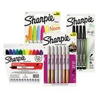 Sharpie® Permanent Markers Bundle, 3 DZ Fine Point Black, 1 PK Metallic Assorted, 27/Set