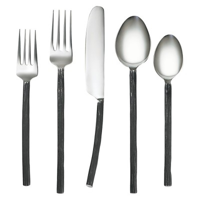 Cambridge Aisha Black Mirror 20 Piece Flatware Set