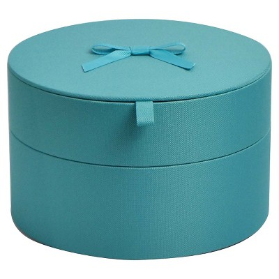 Decorative Media Bin - Turquoise Blue Round - Xhilaration™