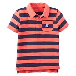 Just One You™Made by Carter's® Toddler Boys' Striped Short-sleeve Polo - Mineral Red
