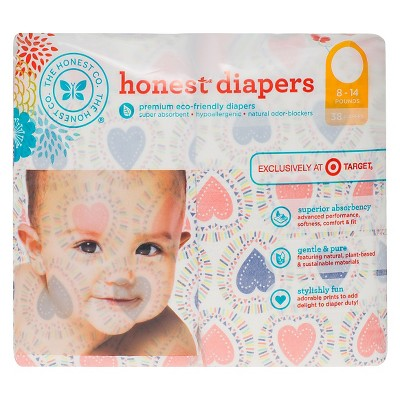 Honest Company Diapers Confetti Hearts Jumbo Pack - Size 1  (38 Count)