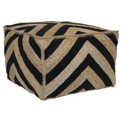 Square Pouf - Black Stripe - Threshold™
