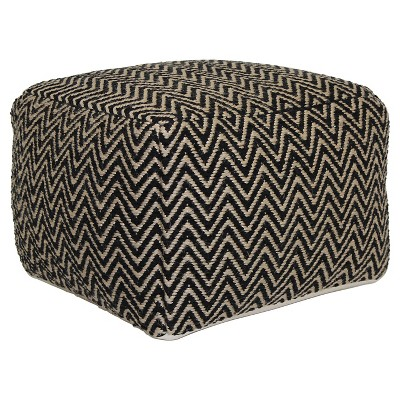 Square Pouf - Black Chevron - Threshold™