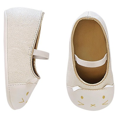 Newborn Girls' Ballet Shoes - White 6-9 M